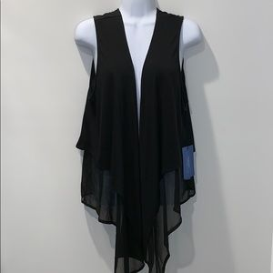 Simply Vera Vera Wang Sleeveless Black Vest